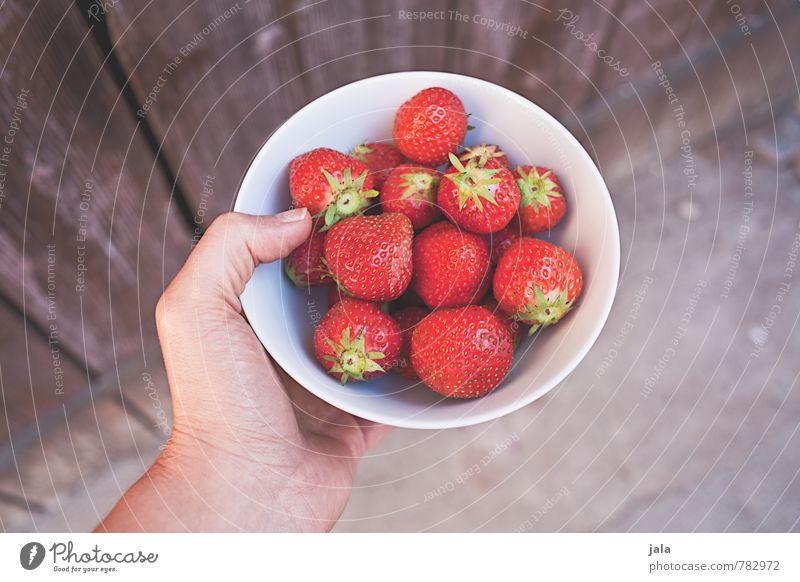 strawberries Food Fruit Strawberry Nutrition Organic produce Vegetarian diet Bowl Healthy Eating Feminine Hand Fingers 30 - 45 years Adults Fresh Good Delicious