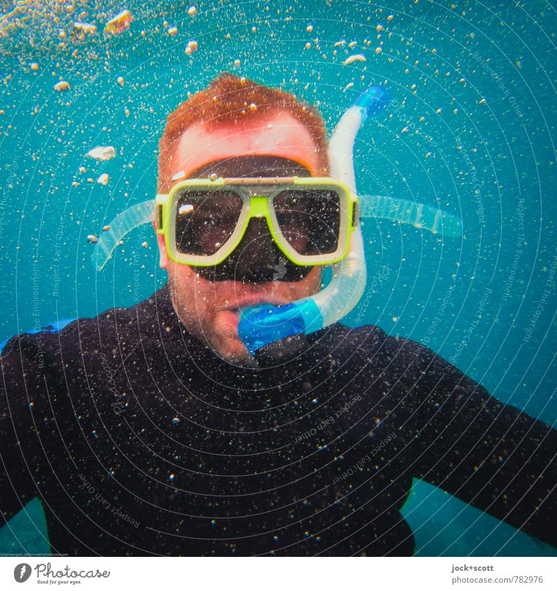 snorkeling Expedition Aquatics Snorkeling Diving equipment Diving goggles Man Head Pacific Ocean Wetsuit Red-haired Short-haired Facial hair Dive Experience