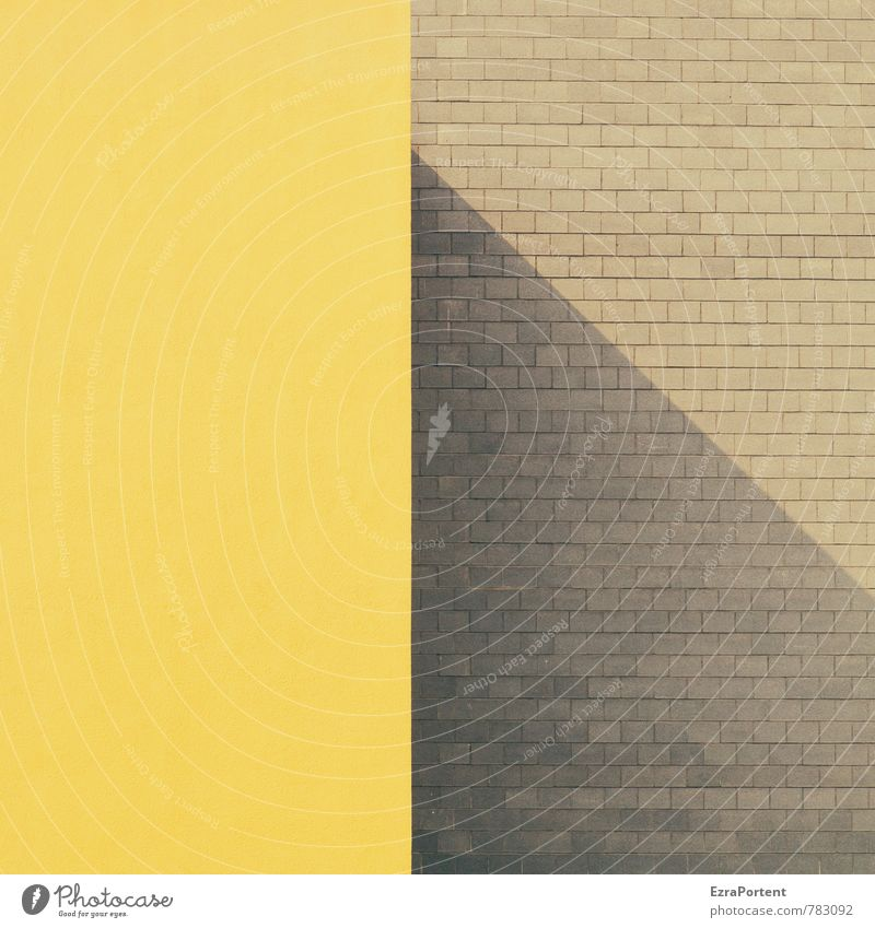 House (Residential Structure) Yellow Wall (building) Architecture Wall (barrier) Building Gray Stone Line Facade Design Esthetic Illustration Clarity