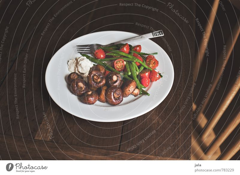 vegetables Food Vegetable Mushroom Button mushroom Tomato French beans Beans Nutrition Lunch Organic produce Vegetarian diet Slow food Crockery Plate Cutlery