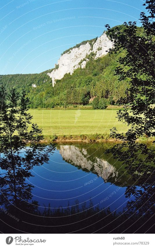 Nature Water Blue Summer Rock River Danube