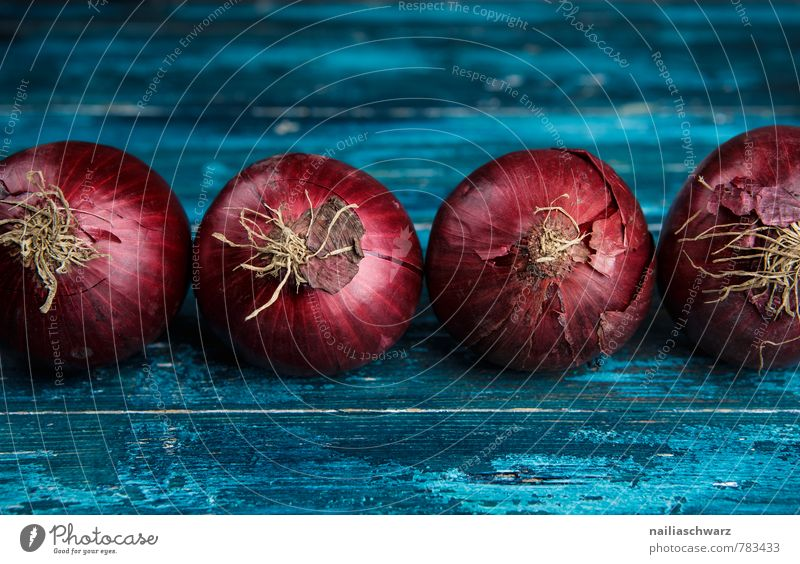 Red Onions Food Vegetable Nutrition Organic produce Vegetarian diet Kitchen Wood Fresh Healthy Delicious Natural Many Blue Colour Arrangement Rustic entirely
