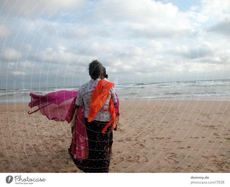 beachgirls Beach Trade Clouds Ocean Human being Rag Sand kaz
