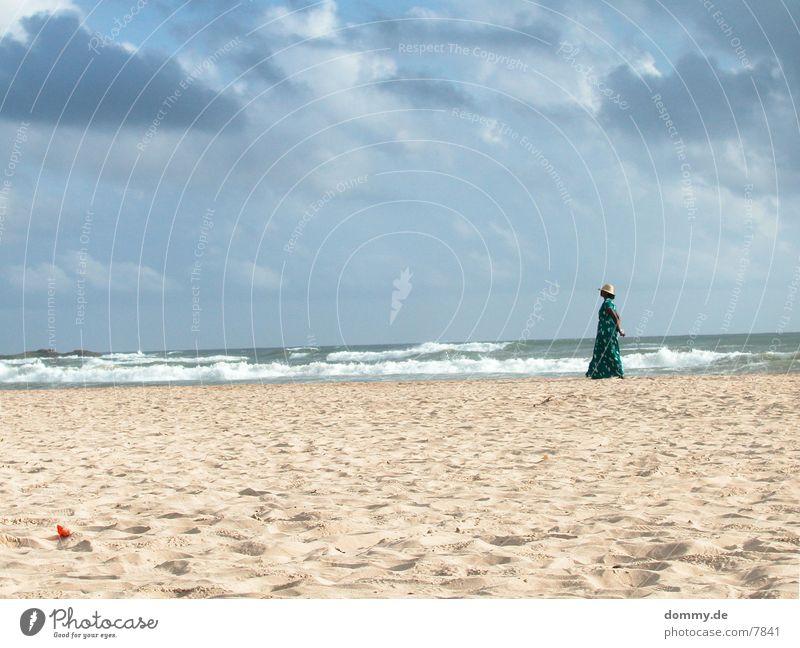 Beachgirl II Trade Ocean Clouds Human being Sand kaz