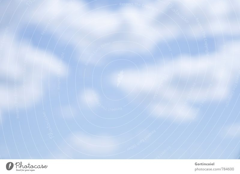Sky Blue White Summer Clouds Warmth Dream Weather Beautiful weather Daydream Summer sky Sky only