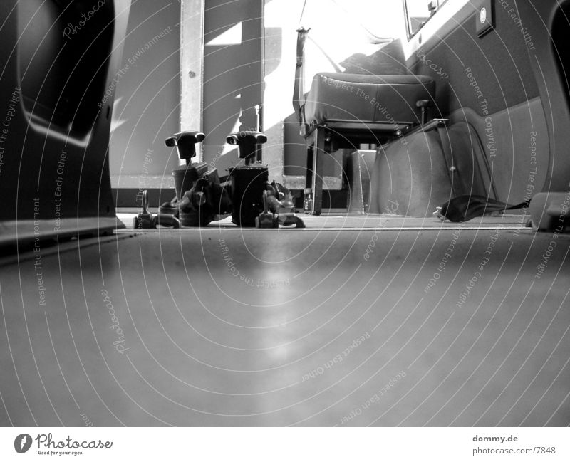 Wheelchair Bus Fastening Interior shot Disability friendly Black & white photo Detail Section of image Copy Space bottom