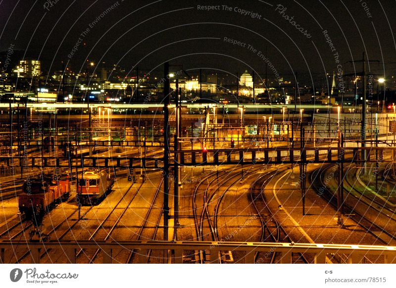 Transport Railroad Railroad tracks Train station Stagnating Zurich Rail transport Hardbrücke