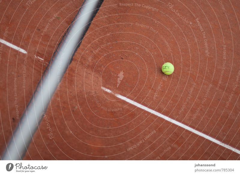 Tennis court 2 Ball Net Line Sand Orange Abstract Sports Leisure and hobbies Wimbledon Parking Calm Forget Playing Fitness Yellow Converse rooms