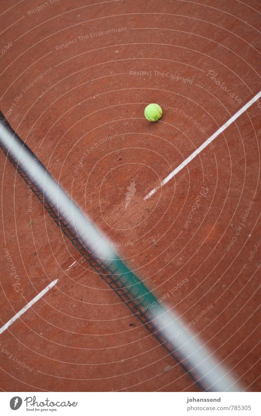 Tennis court 1 Ball Net Line Sand Orange Abstract Sports Leisure and hobbies Wimbledon Parking Calm Forget Playing Fitness training Yellow Converse