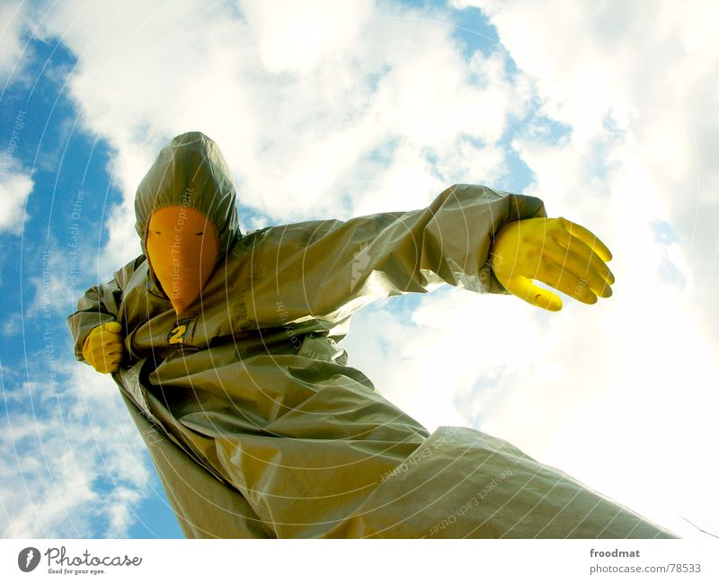 Sky Sun Joy Clouds Yellow Gray Art Mask Suit Surrealism Gloves Rubber Absurd Arts and crafts  Gray-yellow