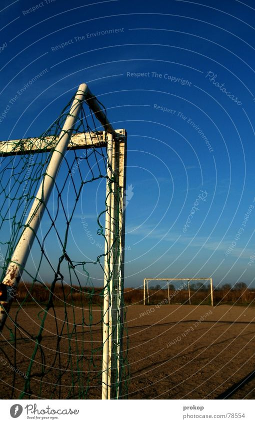 Sky Sports Playing Sand Soccer Earth Places Ball Lawn Net Gate Wooden board Cry Pole Dust Football pitch