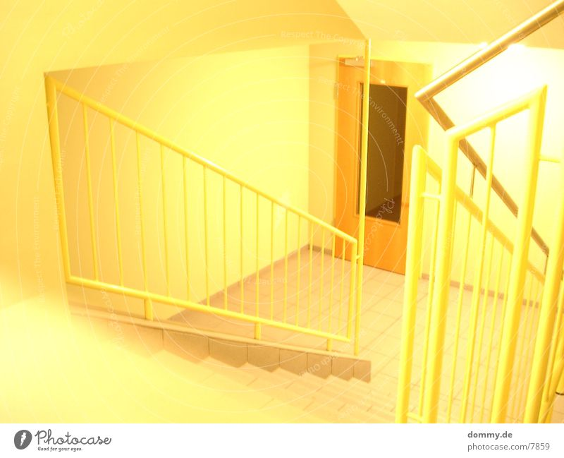 yellow Staircase (Hallway) Overexposure Yellow Photographic technology kaz Illuminate