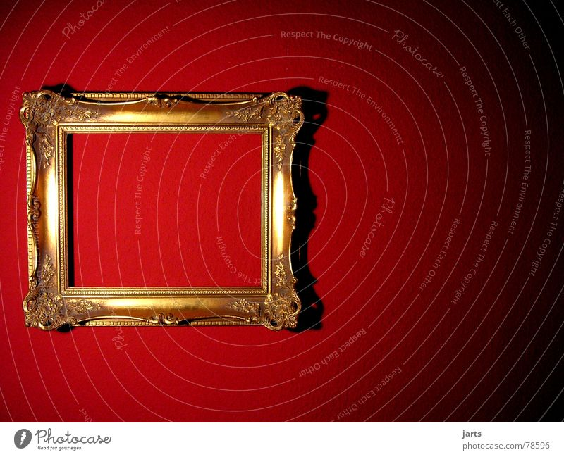 red wall Wall (building) Red Light Ancient Flat (apartment) Living or residing Art Arts and crafts  jarts Image Frame Gold Old Wall (barrier)