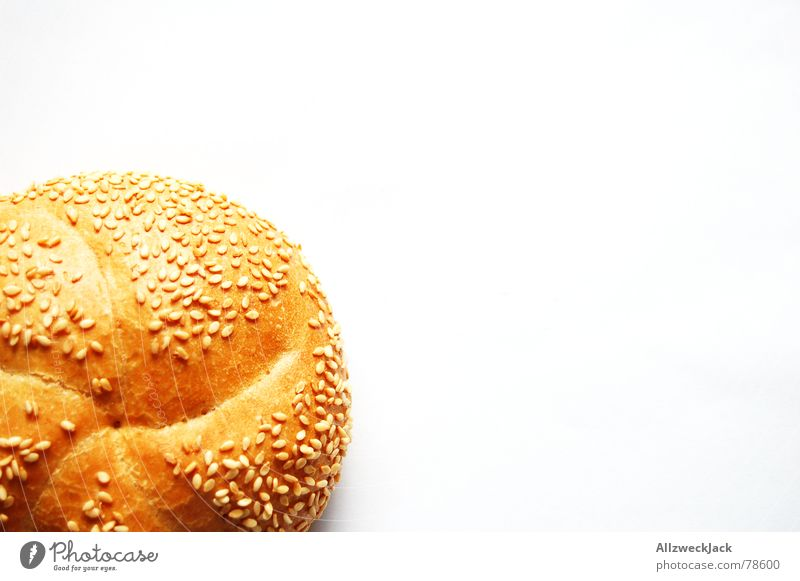 White Nutrition Bread Small Food Appetite Breakfast Baked goods Roll Grain Sesame White bread Abscond