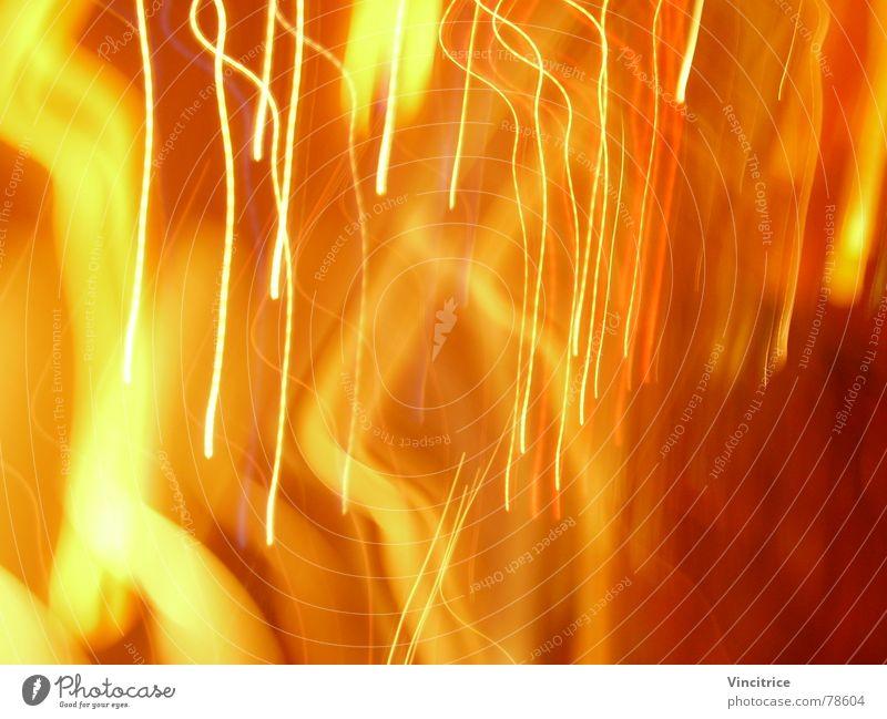 Red Yellow Colour Rain Bright Orange Stripe
