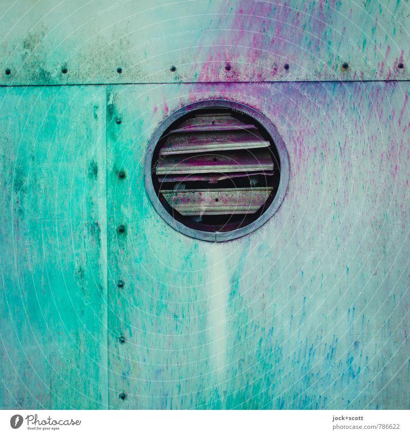 Colour Free ventilation Fan Subculture Street art Rivet Flap Metal Circle Uniqueness Original Design Creativity Ravages of time Colour noise Efficient