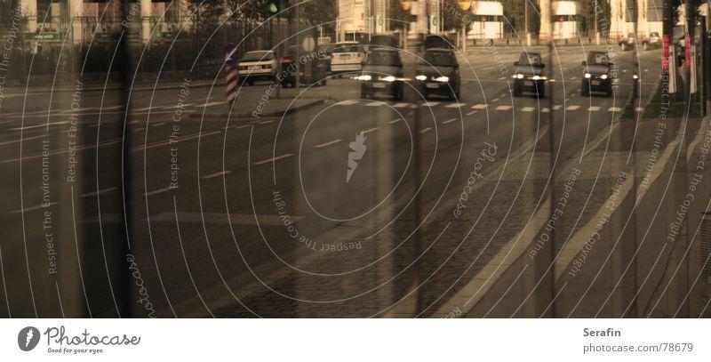 Street Window Car Transport Motor vehicle Logistics Mirror Mobility Vehicle Distorted