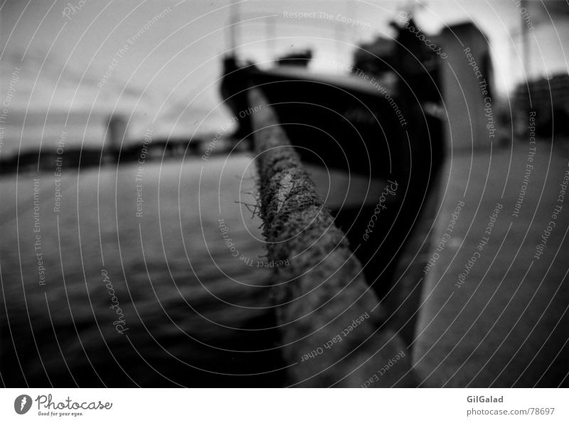 leash Ocean Industry Rope Water Kiel Town Port City Harbour Passenger traffic Navigation Boating trip Ferry Watercraft Old Wet Black White Leashed Captain Berth