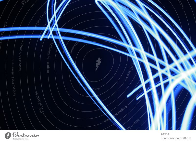 Blue Colour Lamp Movement Line Grief Energy industry Anger Dynamics Distress Curve Chaos Muddled Swing Bend Curved