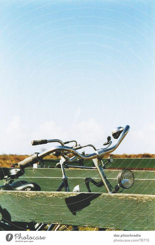 Sky Green Blue Calm Lamp Wood Bicycle Horizon Harmonious Netherlands Ameland