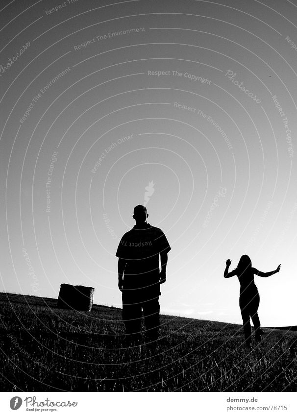 Woman Man Hand White Sun Summer Joy Clouds Black Dark Meadow Mountain Warmth Grass Jump Friendship