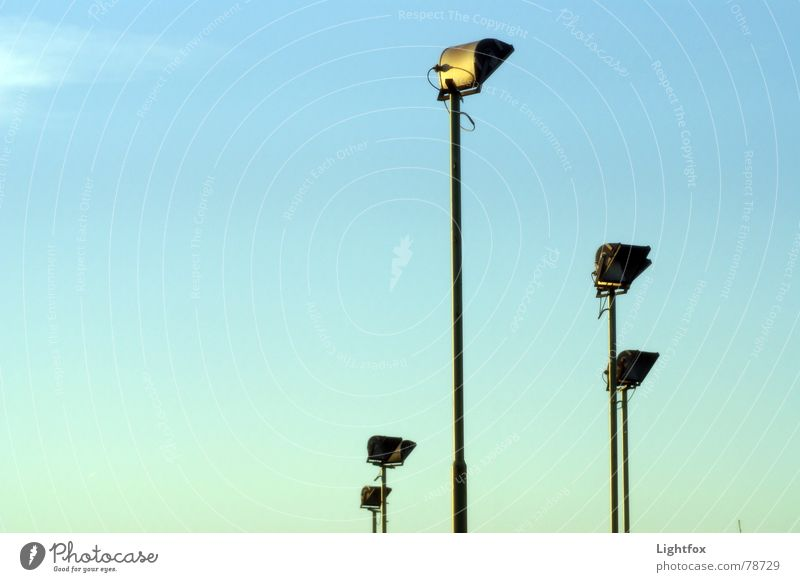 headlights 5 Floodlight Blue sky order sortplatz