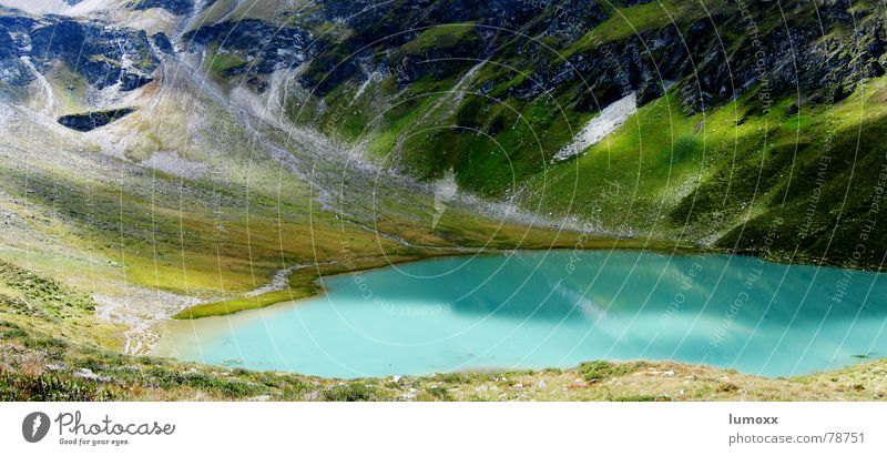 Nature Water Beautiful Green Blue Plant Far-off places Grass Mountain Lake Landscape Rock Alps Turquoise Austria Gravel