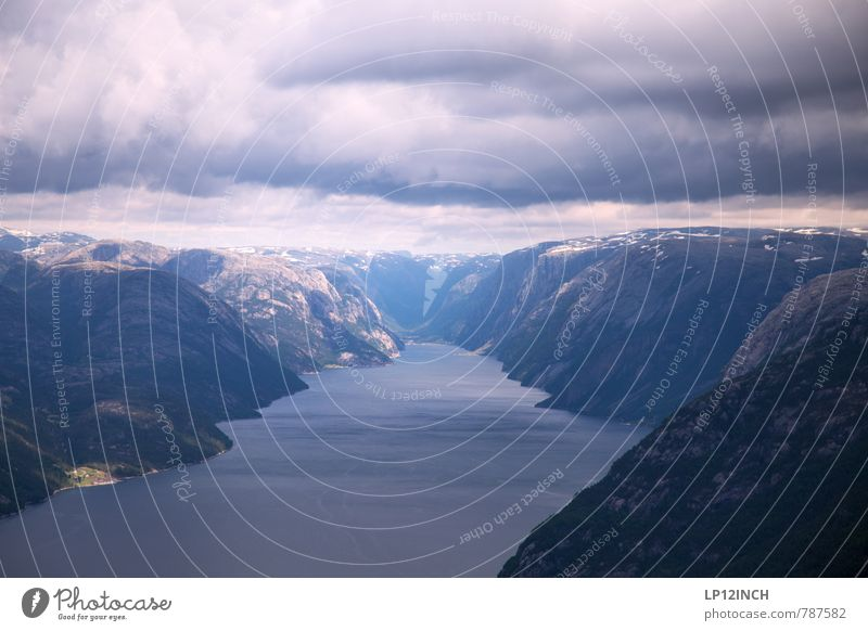 N O R W A Y - YO - XIX Vacation & Travel Tourism Trip Mountain Hiking Nature Landscape Water Sky Clouds Fjord Lysefjord Norway Tourist Attraction To enjoy