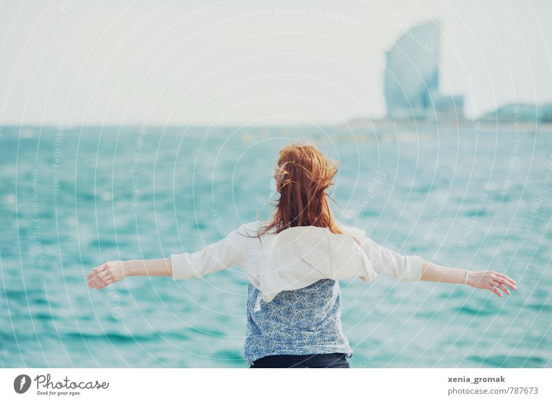 Human being Woman Vacation & Travel Youth (Young adults) Water Summer Sun Ocean Young woman Beach 18 - 30 years Far-off places Adults Life Feminine