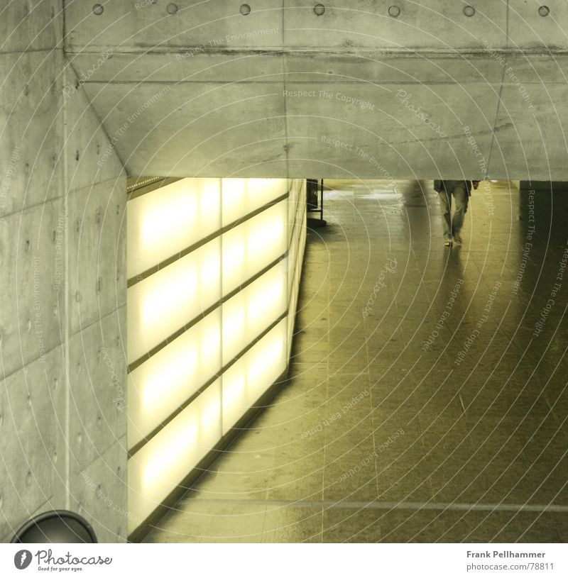 City Yellow Architecture Stone Building Lamp Bright Lighting Concrete Modern Simple Tunnel Station Neon light Corridor