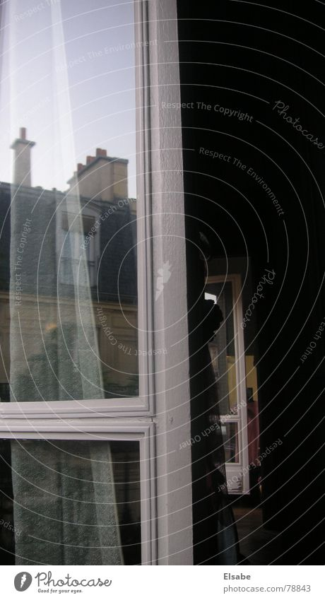 Sky Window Glass Roof Paris Vantage point Story Window pane Hallway Escape Chimney Frame Window frame