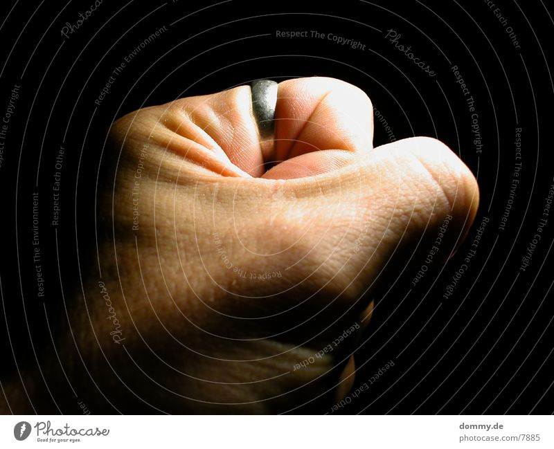 Human being Hand Skin Circle Force Fist