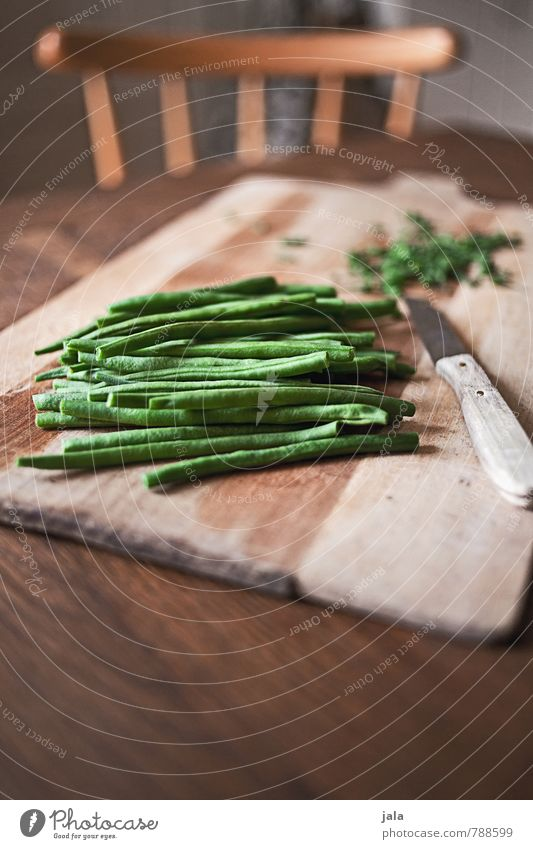 beans Food Vegetable Beans Nutrition Organic produce Vegetarian diet Knives Chopping board Healthy Eating Chair Table Wood Fresh Good Delicious Natural cut