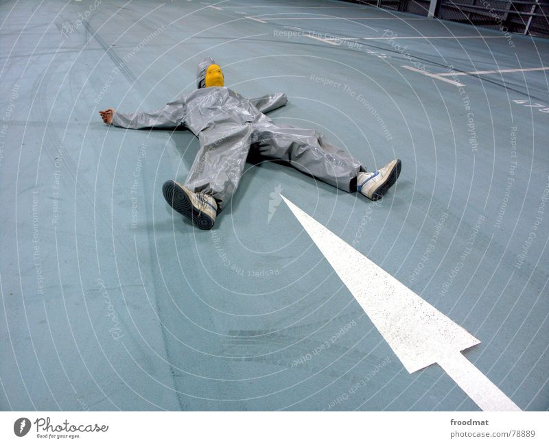 grau™ - top of the range Futile Hazard-free Crazy Joy Funny Parking garage Gray Yellow Gray-yellow Suit Rubber Art Stupid Skid marks Arts and crafts  Abstract