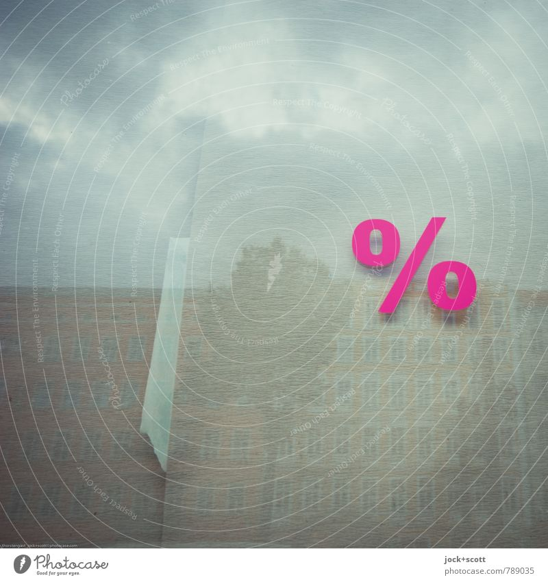 how many percent? Tree Clouds House (Residential Structure) Time Pink Facade Glass Success Paper Change Illustration New Good Typography Advertising Industry