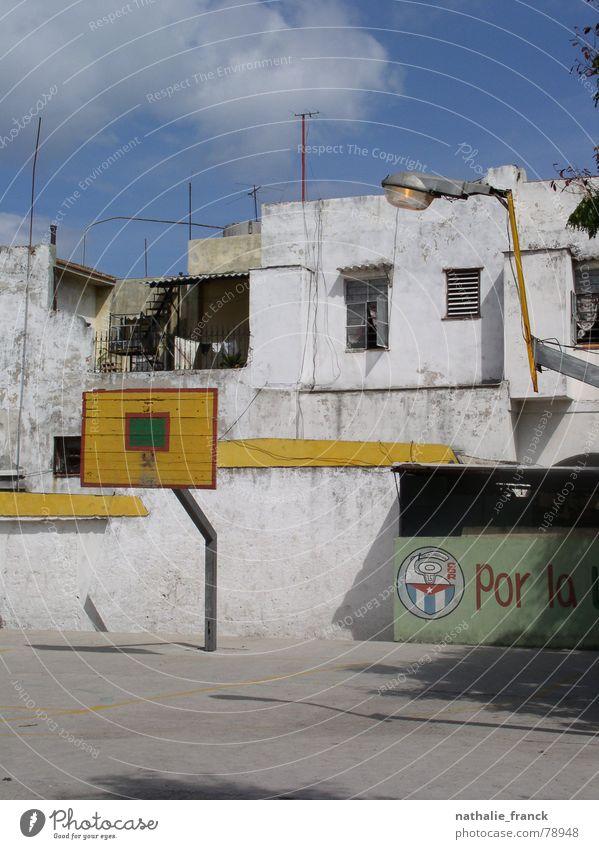 Derelict Cuba Blue sky Basketball Havana