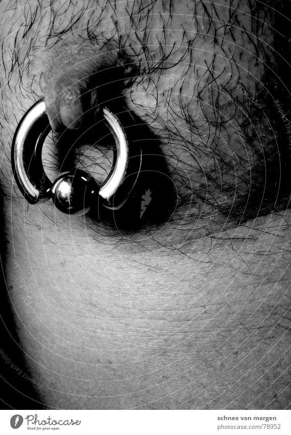 Man Nature Beautiful Black Dark Naked Gray Hair and hairstyles Skin Masculine Circle Gloomy Pelt Wrinkles Thin Sphere