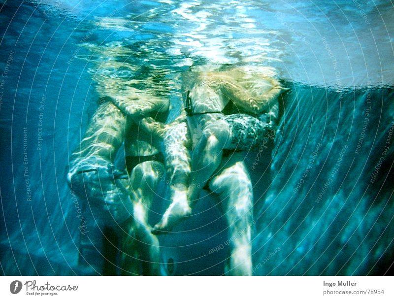 Woman Man Water Summer Ocean Love Legs Couple 2 In pairs Swimming pool 4 Near Kissing Swimming trunks Familiar