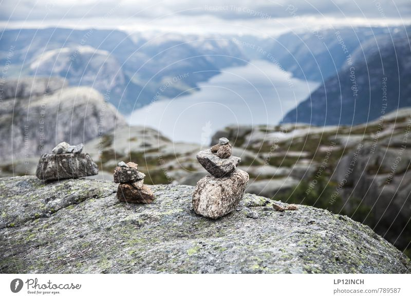 N O R W A Y - Male - XVIII Vacation & Travel Tourism Trip Adventure Far-off places Mountain Hiking Clouds Rock Fjord Lysefjord Norway Tourist Attraction Stone