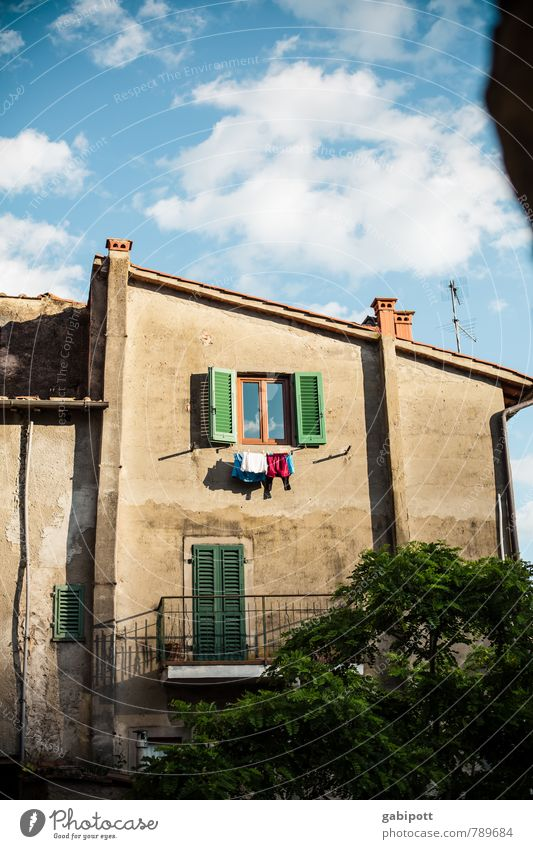 Loro Ciuffenna Vacation & Travel Tourism Summer vacation Living or residing House (Residential Structure) Old town Facade Transience Contentment Italy
