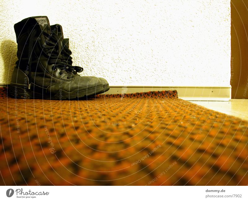 Red Door Boots Hallway Carpet High-tech