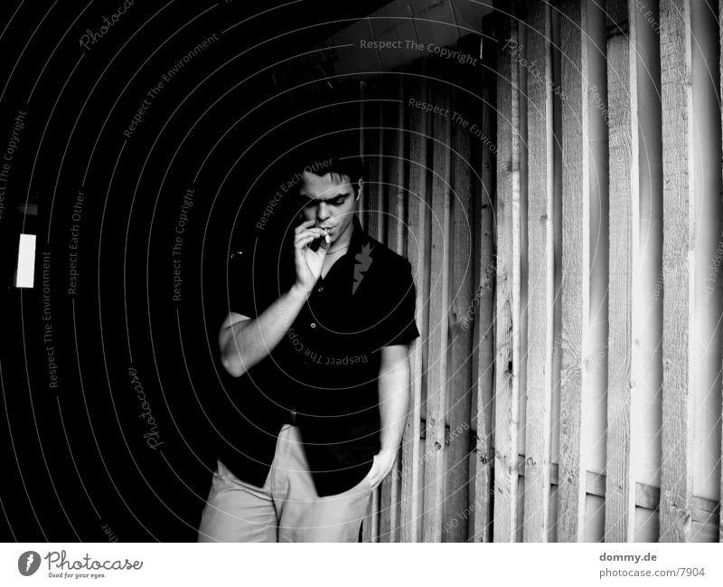 Man Dark Cold Cigarette Shirt Cellar Brand of cigarettes