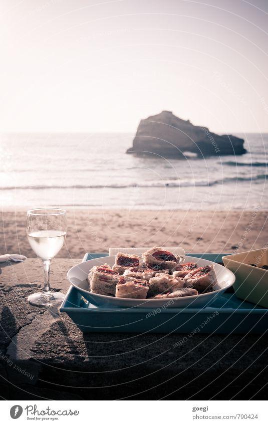 Sky Summer Sun Relaxation Ocean Beach Coast Freedom Food Sand Horizon Contentment Waves Glass Island Wine