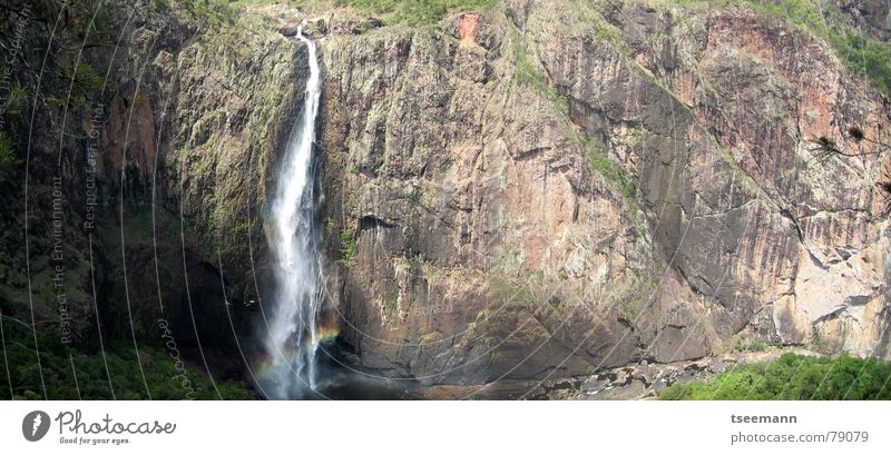 Wallaman Falls Australia Queensland River Brook Waterfall wallaman if in the event townsville Rock water To fall Tall