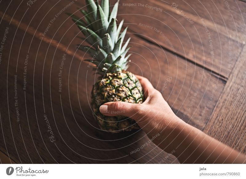 pineapple Food Fruit Pineapple Nutrition Eating Organic produce Vegetarian diet Diet Feminine Hand 30 - 45 years Adults Fresh Healthy Good Delicious Natural