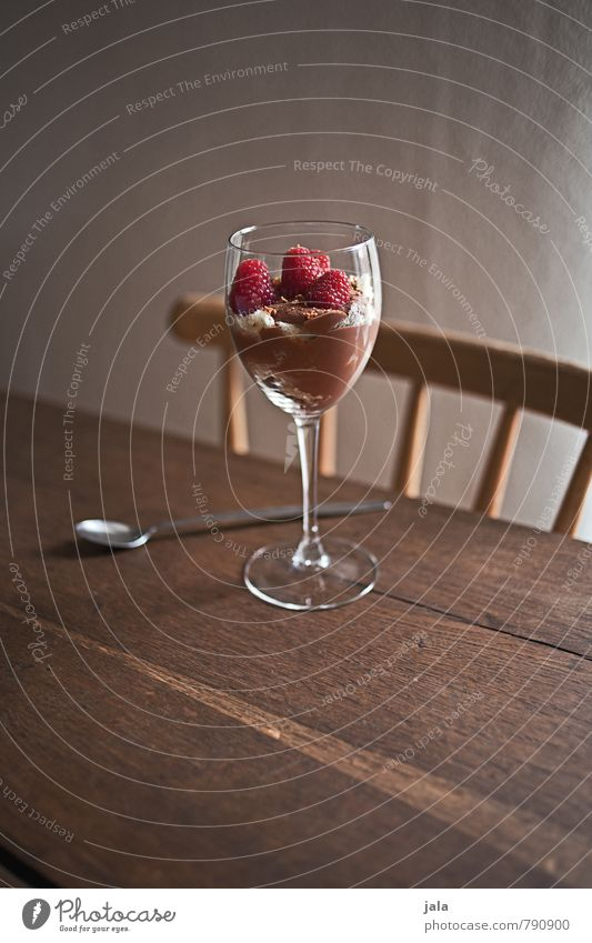 dessert Food Dairy Products Fruit Nutrition Glass Delicious Sweet Dessert Colour photo Interior shot Deserted Copy Space top Day