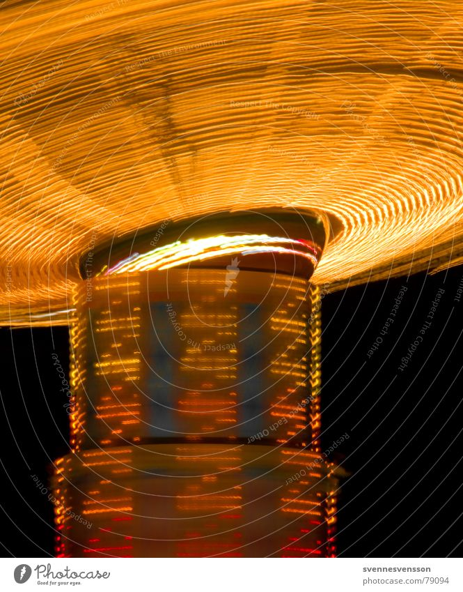 But ZZ, it's pretty fast. Diode Light and shadow Visual spectacle Carousel Red Black Yellow Fairs & Carnivals Gyroscope Blur Lighting Lighthouse Motion blur