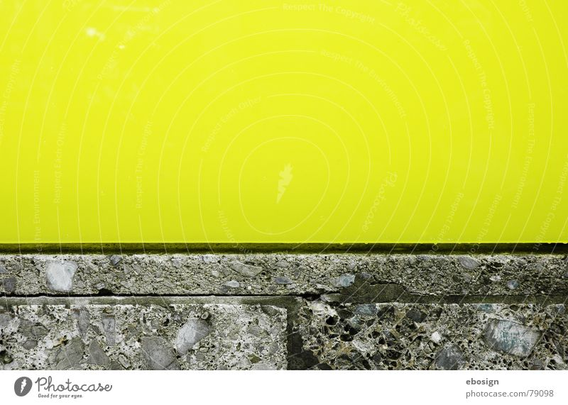 colored concrete Yellow Green Structures and shapes Horizontal Material Architecture Detail Colour Stone Line Calm Modern