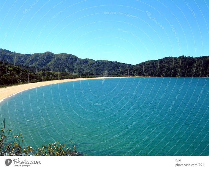 Bay of Rings Beach Ocean New Zealand Water Mountain Sky Blue
