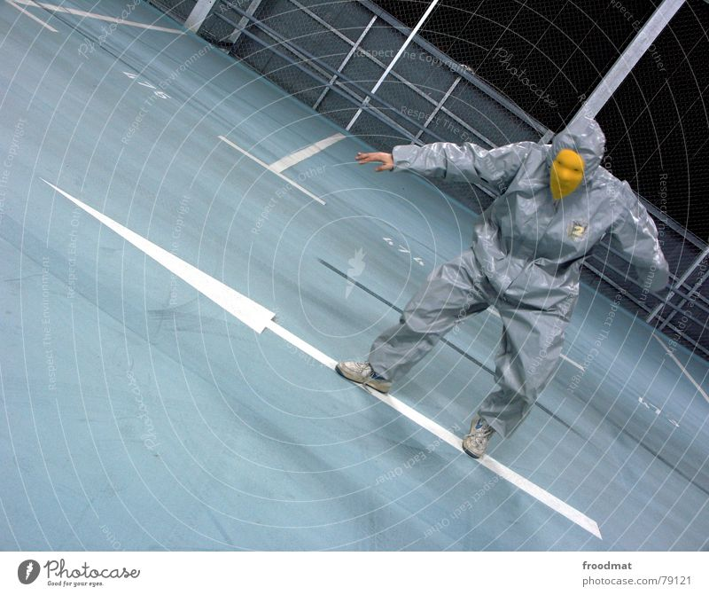 grau™ surfin on an arrow Parking garage Gray Yellow Gray-yellow Suit Rubber Art Stupid Futile Hazard-free Crazy Funny Joy Skid marks Arts and crafts  Abstract